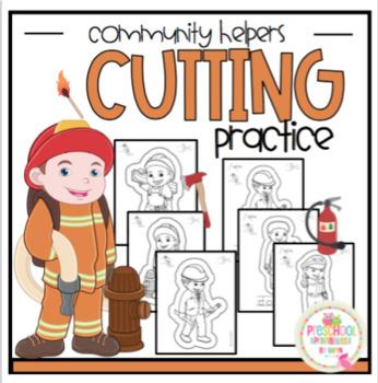 "Community Helpers Cutting Practice ""No Prep"""