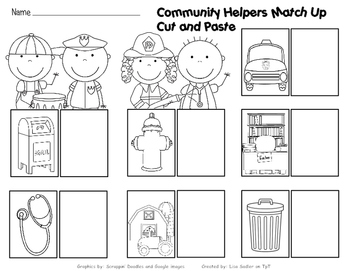 Community Helpers DIFFERENTIATED Worksheets and Activities