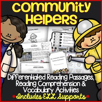 Differentiated Community Helpers Reading Passages, Comprehension & Vocabulary