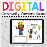 Community Helpers Digital Basics for Special Ed   Distance Learning
