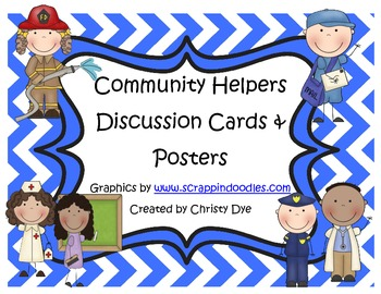 Community Helpers Discussion Cards and Posters