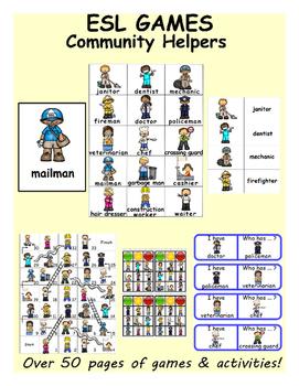 Community Helpers ESL Games