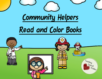 5 Community Helpers Early Learner Read and Color Books