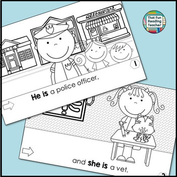 Sight Word Leveled Readers, Sentence Puzzles and Activities: Community Helpers!