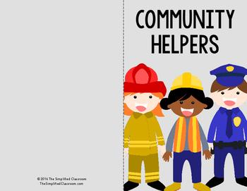 Community Helpers Easy Reader Book {FREEBIE!}