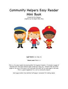 Community Helpers Easy Reader Sight Word Mini Book