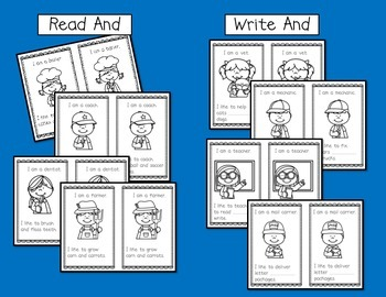Community Helpers Emergent Reader {Sight Word:  And}