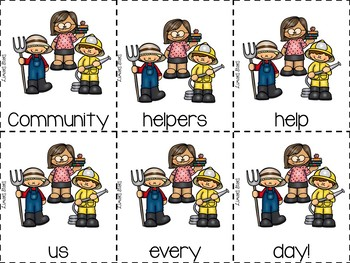 Community Helpers Emergent Reader & Centers