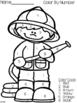 Community Helpers Emergent Reader /Color by Number / Writing/ Kindergarten