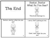 "Community Helpers Emergent Reader Mini-Book ""Doctor, Doctor What Do You See?"""