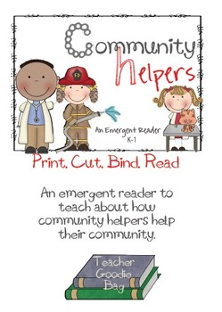 Community Helpers Emergent Reader {copy, cut, bind, read)