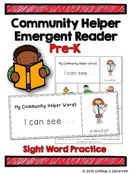 Community Helpers Emergent Reader for PreKinders