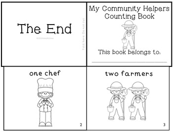 Community Helpers Emergent Readers & Mini-books Set of 5