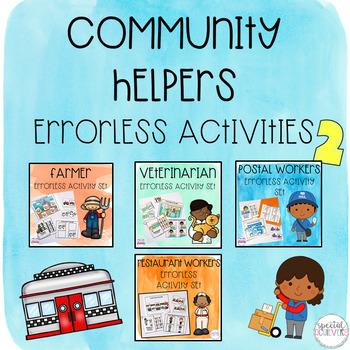 Community Helpers Errorless Activity Set Bundle 2