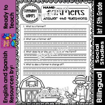 Community Helpers - Farmers - Granjeros (Bilingual Set)