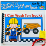 Community Helpers Fine Motor Adapted Book:  Construction W
