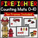 Community Helpers: Firefighter Counting Mats and Ten Frames