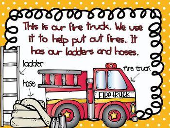 Community Helpers - Firefighters Emergent Reader