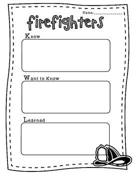 Community Helpers: Firefighters Mini-Unit