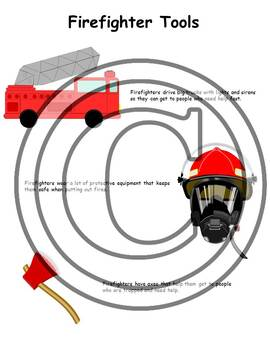 Community Helpers: Firefighters (handouts, activities & thank you card)