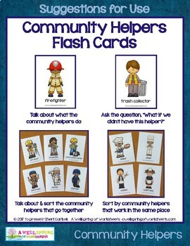 Community Helpers Flash Cards