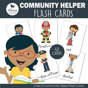Community Helper Flash Cards