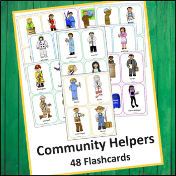 Community Helpers Flash Cards 48 By Creations By Lackert