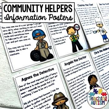 Community Helpers Roles Editable Flashcards