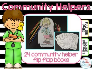 Community Helpers Flip Flap Booklets { 24 different booklets }