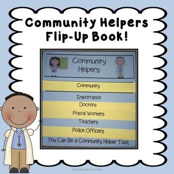 Community Helpers Flip-Up Book