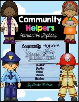 Community Helpers Flipbook and Activities