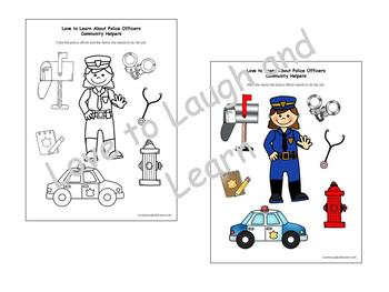 Community Helpers Fun Sheets