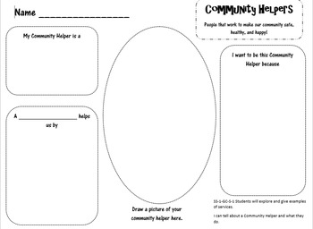 Community Helpers Graphic Organizer