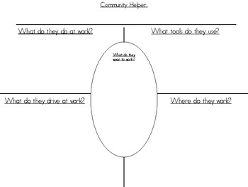 Community Helpers- Graphic Organizer