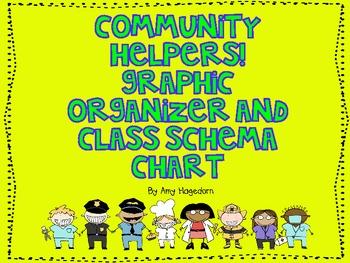 Community Helpers Graphic Organizer and Class Schema Chart