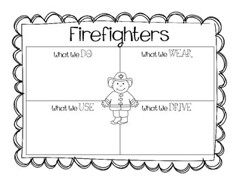 Community Helpers - Graphic Organizers