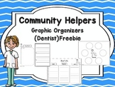 Community Helpers Graphic Organizers -Dentist Freebie