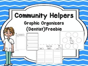 Community Helpers Graphic Organizers -Dentist Freebie