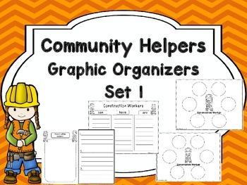 Community Helpers Graphic Organizers Set 1