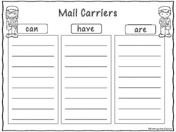 Community Helpers Graphic Organizers Set 2
