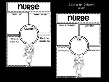 Community Helpers Graphic Organizers and Writing Papers - Set 2