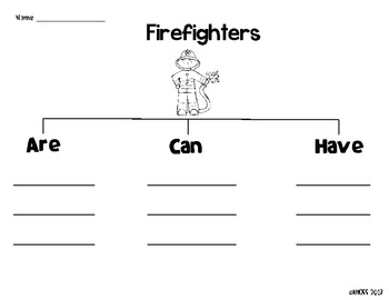 Community Helpers Graphic Organizers