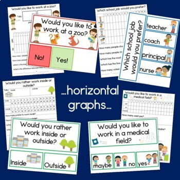 Community Helpers Graphs: Horizontal, Vertical and Pictographs