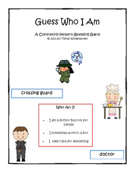 Community Helpers - Guess Who I Am?