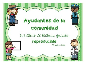 Community Helpers Reproducible Guided Reading Book in Spanish