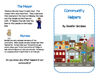 Community Helpers : Guided Reading Mini-Book with Organizer