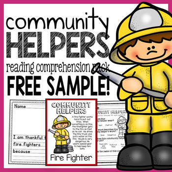 Community Helpers Guided Reading Pack - Fire Fighter Free Sample!