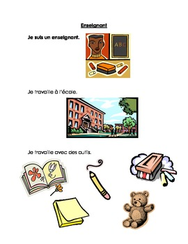Community Helpers Handouts- IN FRENCH