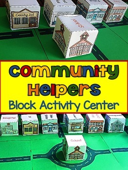 Community Helpers {Community Buildings Block Activity Center}