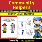 Community Helpers Higher Level Thinking